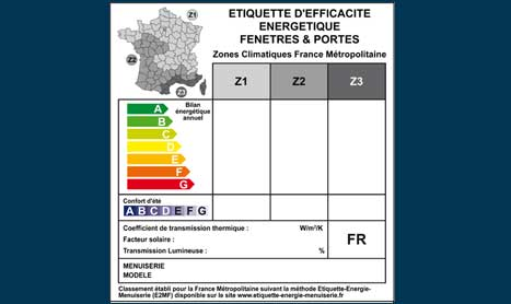 """La nouvelle """"Etiquette énergie menuiserie portes & fenêtres"""""""