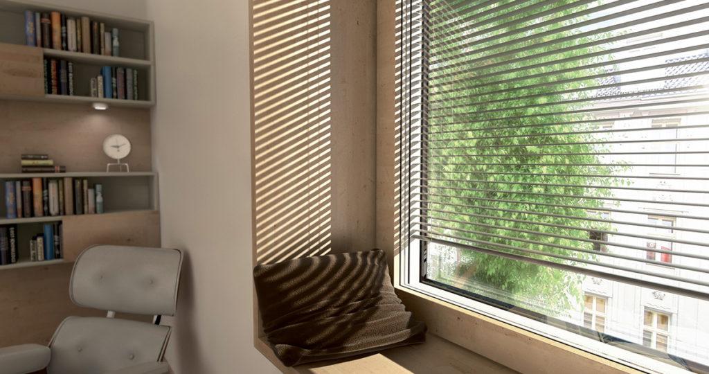 Fenêtre alu à store intégré KV 440