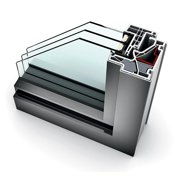 Fenêtre alu triple vitrage KF 500 home pure