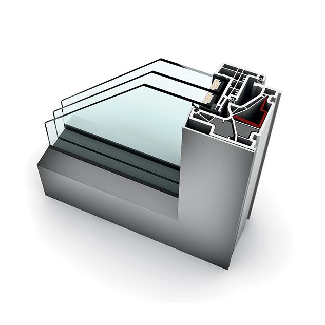 Fenêtre alu triple vitrage KF 500 studio