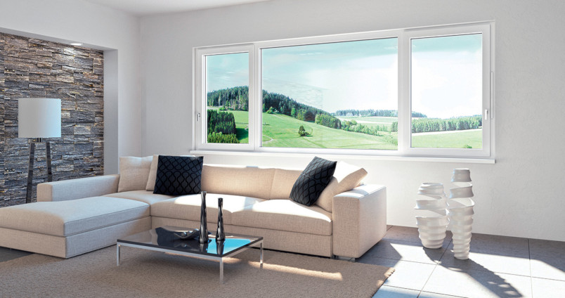fenêtres triple-vitrage en aluminium
