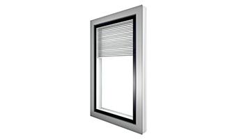 Fenêtres alu à store intégré