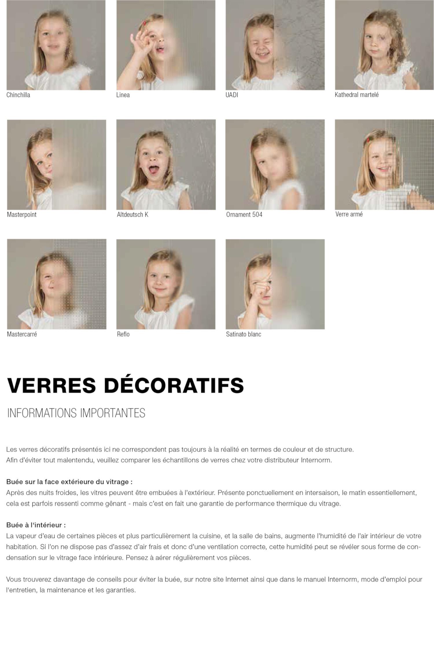 Verres décoratifs Internorm pour fenêtres et portes-fenêtres