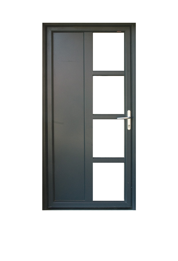 Porte PVC contemporaine M-1P4V