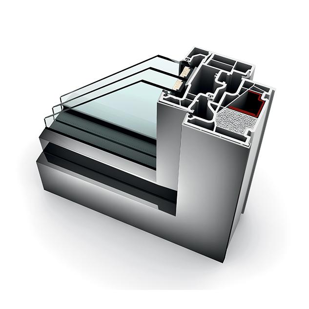 Porte fen tre alu triple vitrage translation kf 410 internorm - Porte fenetre triple vitrage prix ...