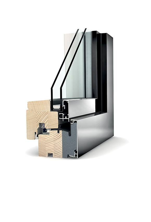 Porte-fenêtre bois double vitrage à translation HF 210