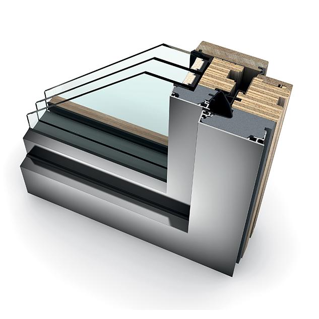 Porte-fenêtre bois triple vitrage à la française HF 410 home pure