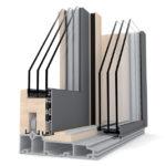porte-fenêtre bois triple vitrage à levage HS 330