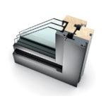 Porte-fenêtre bois triple vitrage à translation HF 310 home pure