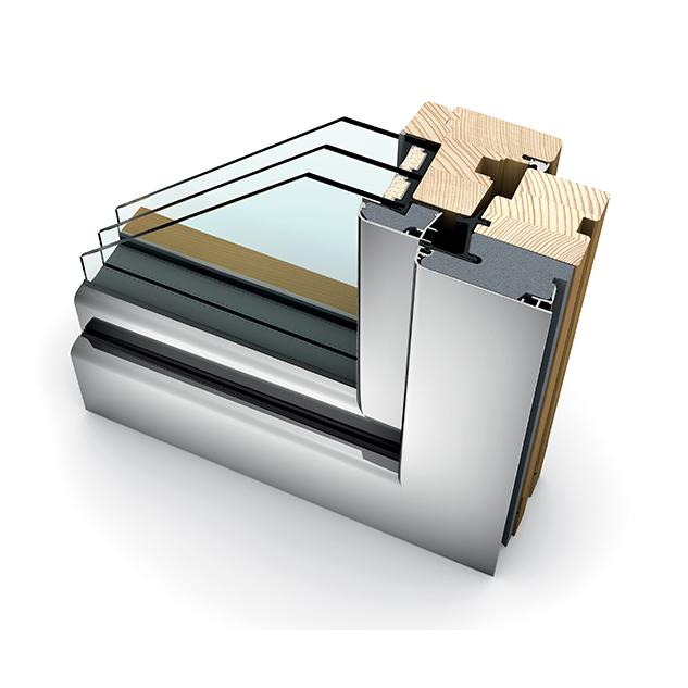 Porte-fenêtre bois triple vitrage à translation HF 310 home soft