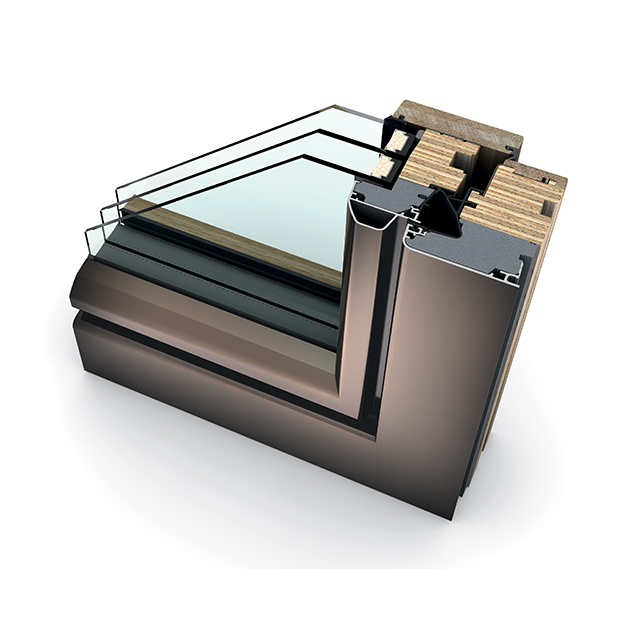 Porte-fenêtre bois triple vitrage à translation HF 410 ambiente