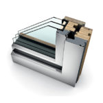 Porte-fenêtre bois triple vitrage à translation HF 410 home soft
