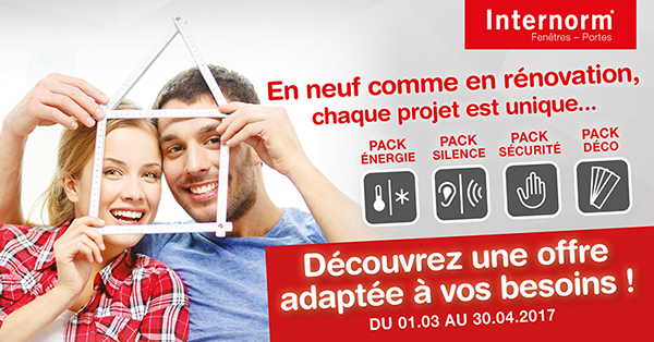 Promotions Internorm du 1er mars au 30 avril 2017