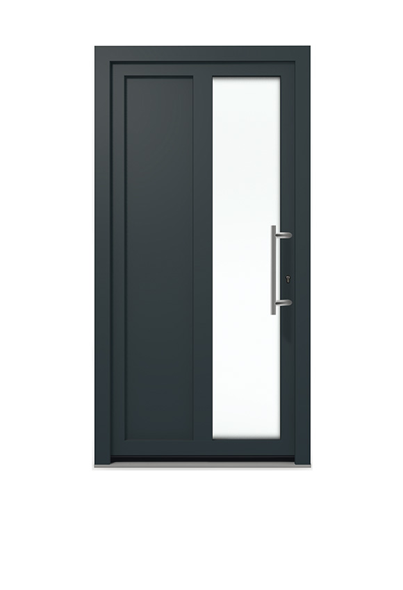 Porte PVC contemporaine M-1P1V