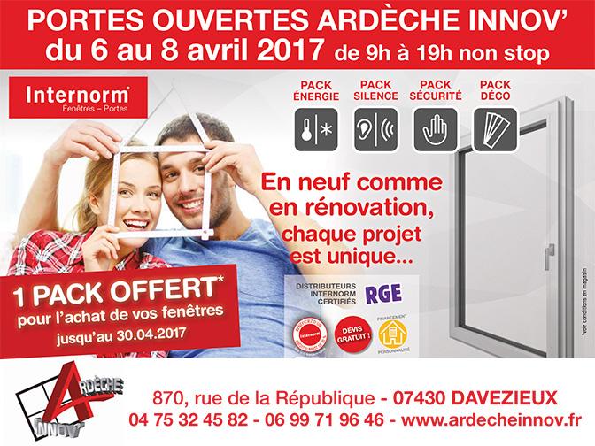 Portes Ouvertes Ardèche Innov du 6 au 8 avril 2017