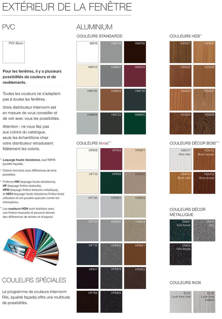 Couleur Extérieur Maison 2017 choisir la couleur de ses fenêtres – internorm