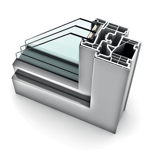 Fenêtre alu triple vitrage KF 310 home soft