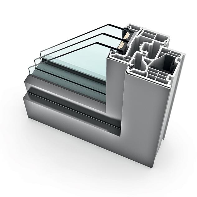 Fenêtre PVC triple vitrage KF 310 home pure