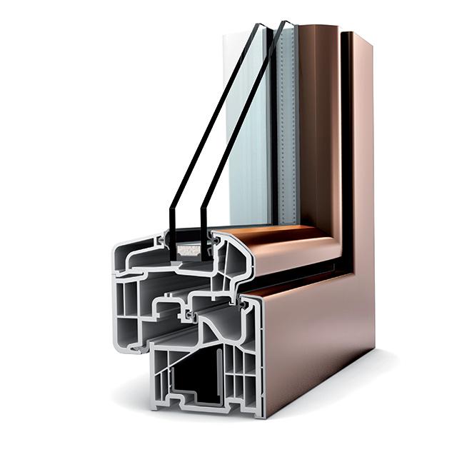 Porte fen tre alu double vitrage la fran aise kf 310 internorm - Porte double vitrage ...