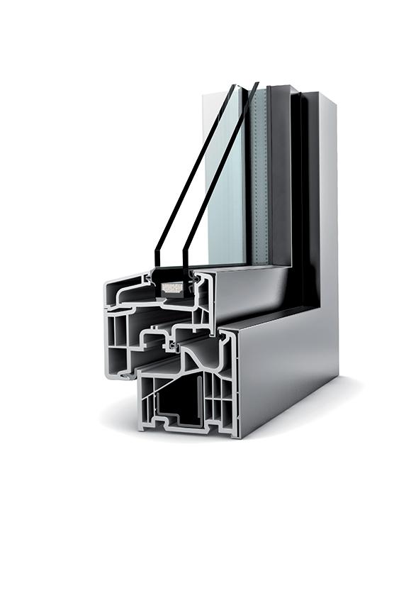 Porte-fenêtre alu double vitrage à translation KF 310