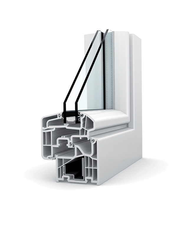 Porte-fenêtre PVC double vitrage à translation KF 310
