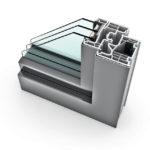 Porte-fenêtre PVC triple vitrage à la française KF 310 home pure