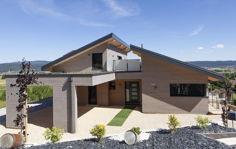 Maison Ossature Bois équipée de fenêtres Internorm
