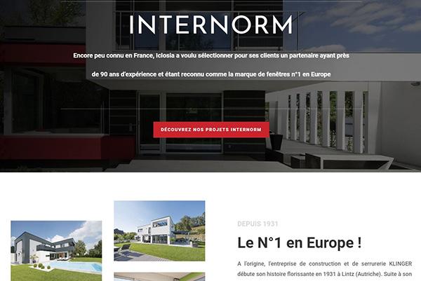 Nouveau site Iclosia - Internorm
