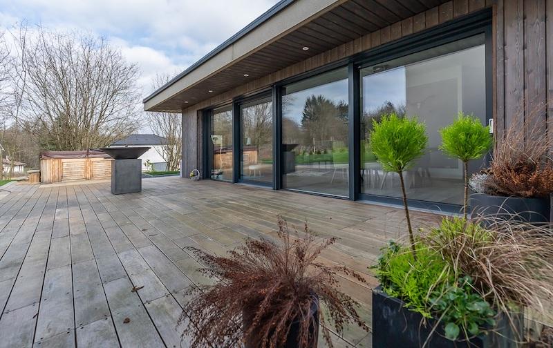 Maison bioclimatique Innov'Habitat équipée de fenêtres Internorm