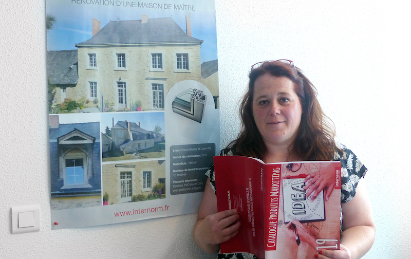 Barbara, assistante marketing Internorm France