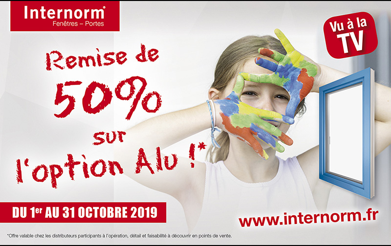 Promo Internorm : -50% sur l'option Alu en octobre 2019 !