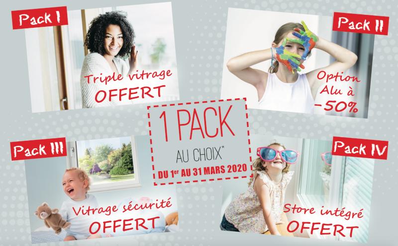 Venez découvrir une offre personnalisée en choisissant parmi 4 packs disponibles sur nos produits!