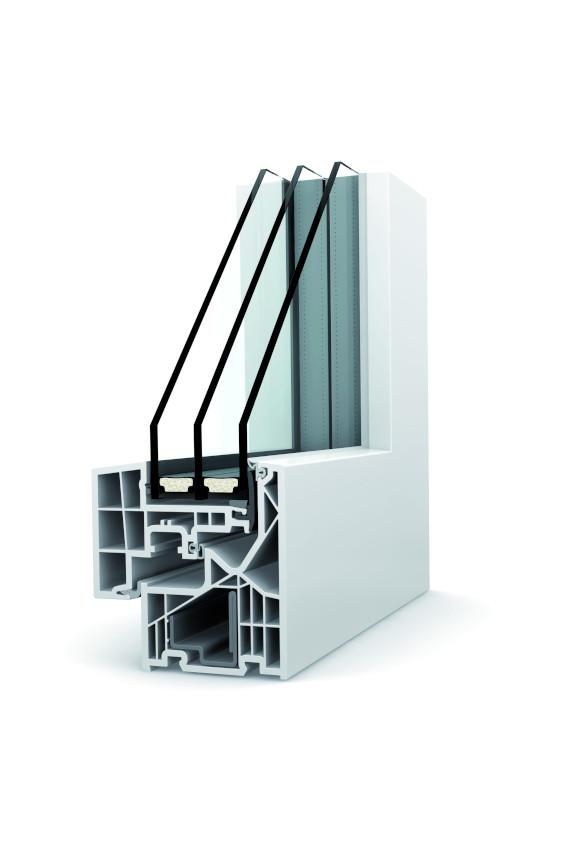 Fenêtre PVC triple vitrage KF 320