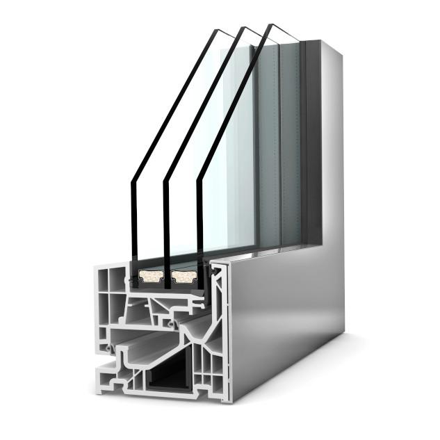 Fenêtre alu triple vitrage KF 520 Studio