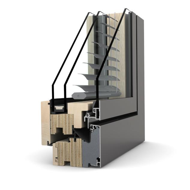 Fenêtre bois à store intégré HV 450 Home Pure