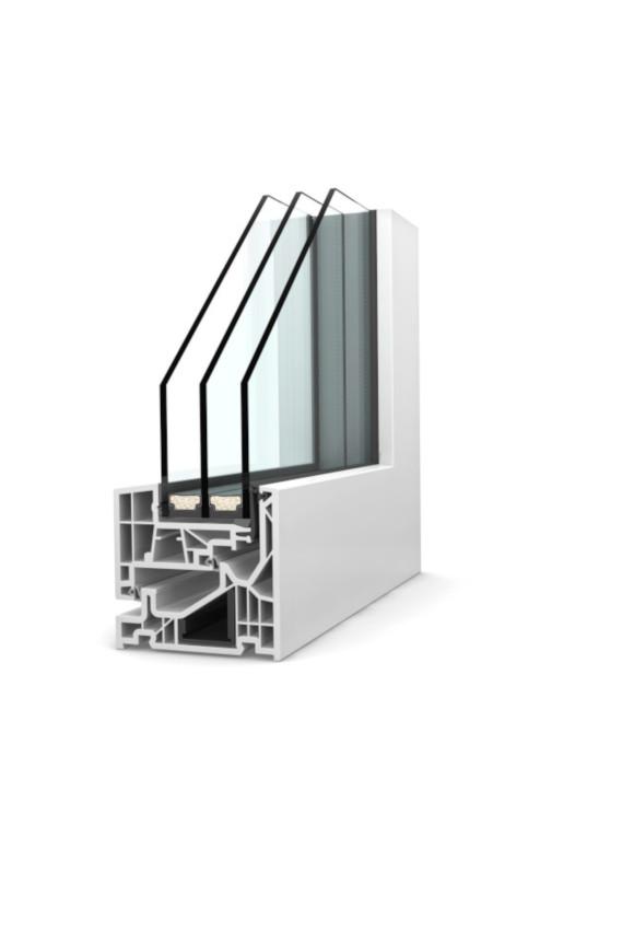 Fenêtre PVC triple vitrage KF 520