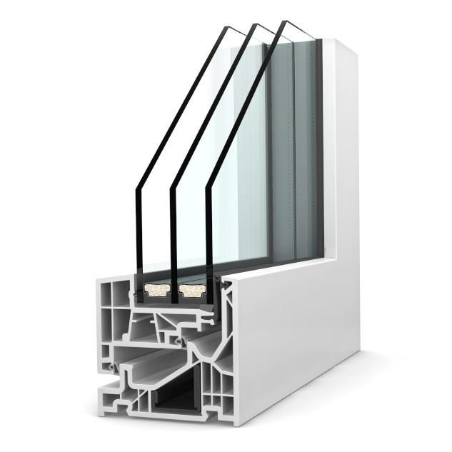 Fenêtre triple-vitrage KF 520 PVC Studio