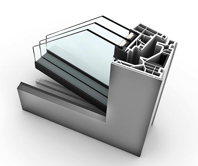 Fenêtre alu triple vitrage KF 520