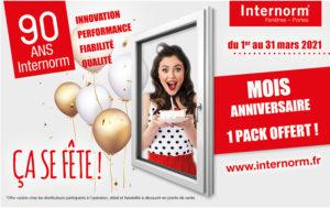 Mois anniversaire Internorm : changez vos fenêtres en choisissant votre offre personnalisée !