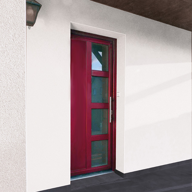 Porte d'entrée bois 310 ambiance